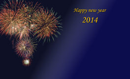 New year 2014. With firework Stock Photo