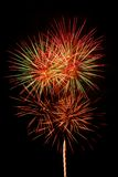 New year firework. Present firework on black background Royalty Free Stock Photo