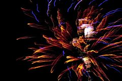 New Year Firework. In Latvia Stock Image