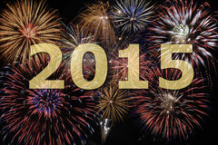 New year firework 2015. Fireworks at new year`s eve 2015 Stock Images
