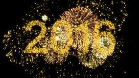 2016 New Year firework stock video footage