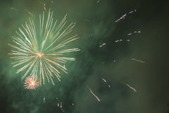 New Year 2015 fireworkds. Estonia, Tallinn, fireworks at New Year 2015 celebration night Royalty Free Stock Photo
