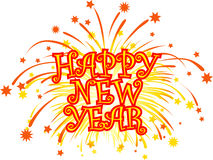 New_year_fireworks Royalty Free Stock Photo