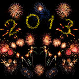 New year fireworks Stock Photo