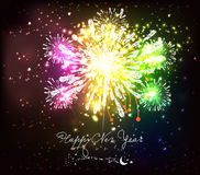 New Year Fireworks. Beautiful Vector Fireworks for happy new year Royalty Free Stock Photos