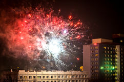 New year fireworks in berlin Royalty Free Stock Photo