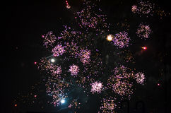New year fireworks in berlin royalty free stock photography