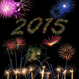 2015 New Year fireworks Royalty Free Stock Image