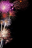 2015 New Year fireworks Stock Image