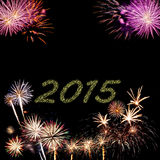 2015 New Year fireworks Stock Images