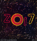 New Year fireworks concept Stock Image