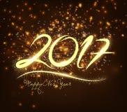 New Year 2017 fireworks. Design Stock Photos