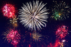 New year fireworks display Royalty Free Stock Image