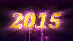 New Year 2015 Fireworks stock video footage