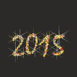 2015 New Year fireworks. Illustration multicolored New Year fireworks Royalty Free Illustration