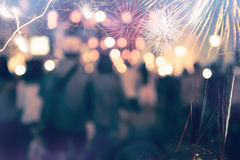 New Year fireworks. love Royalty Free Stock Photos
