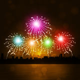 New Year Fireworks Royalty Free Stock Photos