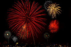 New Year Fireworks Royalty Free Stock Photography