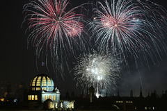 New Year fireworks over Prague, Czech Republic. Stock Photography
