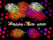 New year with fireworks. Photo of abstract image, new year with fireworks to beautify a website. Enriched your website professionally with this beautiful image Royalty Free Stock Photos