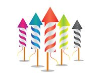 New year fireworks rocket. Illustration design Royalty Free Stock Photos