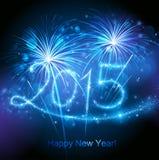 New Year 2015 fireworks vector illustration