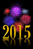 New Year 2015 Fireworks Stock Photos