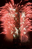 New Year fireworks on Taipei 101 Royalty Free Stock Photography
