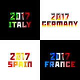 New 2017 year in flag color Royalty Free Stock Photography