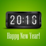 New Year. Flip clock as counter for 2015-2016 new year countdown. Vector illustration Stock Photo
