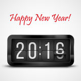 New Year. Flip clock as counter for 2015-2016 new year countdown. Vector illustration Stock Images