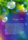 New Year flyer. Royalty Free Stock Photos
