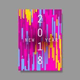 New Year Flyer, Card or Background Vector Design - 2018 Stock Image