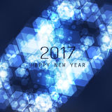 New Year Flyer, Card or Background Vector Design - 2017. Best Wishes - Abstract New Year Card, Cover or Background Design Template with Numerals - Illustration Stock Photo