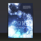 New Year Flyer or Cover Design - 2015. Abstract Colorful Sparkling Shiny Bright New Year Card, Flyer, Cover or Background Design in Freely Scalable and Editable stock illustration
