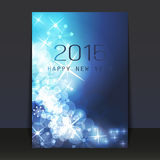 New Year Flyer or Cover Design - 2015. Abstract Colorful Sparkling Shiny Bright New Year Card, Flyer, Cover or Background Design in Freely Scalable and Editable vector illustration