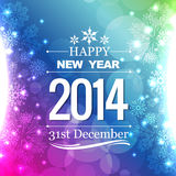 New year flyer. Happy new year 2014 flyer style design vector illustration