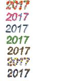 New year 2017 font numbers. Christmas new year 2017 font numbers Stock Photo