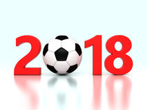 New Year 2018 with Football Royalty Free Stock Photography