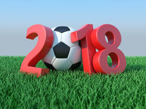 New Year 2018 with Football Stock Photography