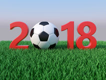 New Year 2018 with Football Royalty Free Stock Photos