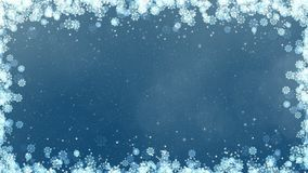 Blue New Year Snowflakes Frame stock video