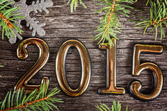 New Year frame with  fir decorations Royalty Free Stock Photography
