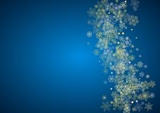 Christmas and New Year snowflakes Stock Photography