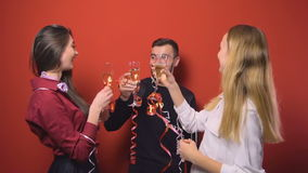 New Year Friends Party stock video