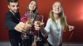 New Year Friends Party stock video footage