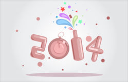 New Year 2014. Fun with 2014, happy new year Stock Images