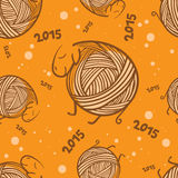 New year 2015 funny sheeps seamless pattern Stock Image