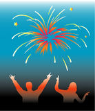New Year funy. New Year-work with vectors-illustration Stock Photos