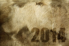 2014 on fur texture Royalty Free Stock Photo